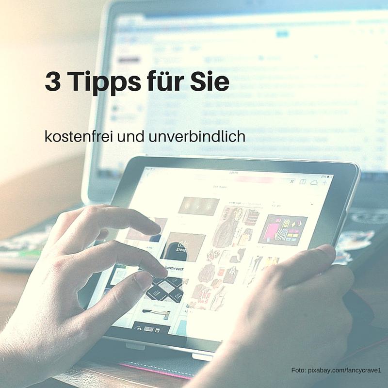 3 kostenfreie Tipps für Ihre Homepage – ganz individuell